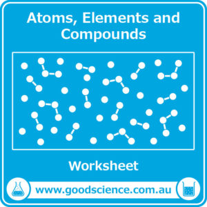 atoms elements and compounds worksheet