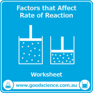 factors that affect rate of reaction worksheet