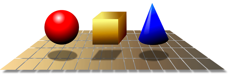 3d geometric shapes mass volume density